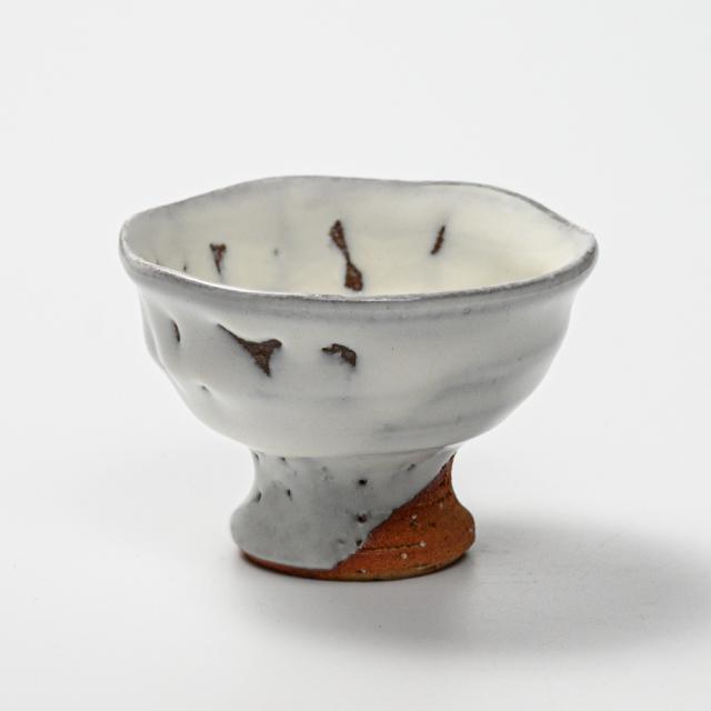 萩焼(伝統的工芸品)馬上盃鬼白竹丸No878