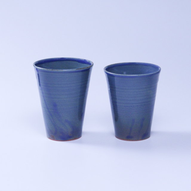 【福箱30+3】No9005淡藍釉タンブラー小・タンブラー大