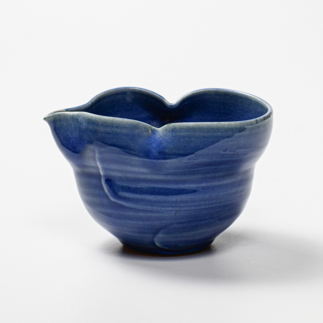 萩焼(伝統的工芸品)酒注ぎ大透青釉刷毛瓢箪