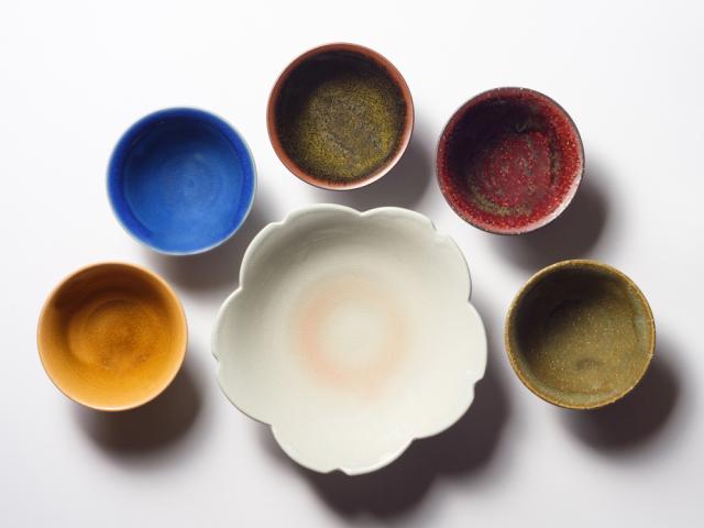 萩焼(伝統的工芸品)和の色・五彩鉢