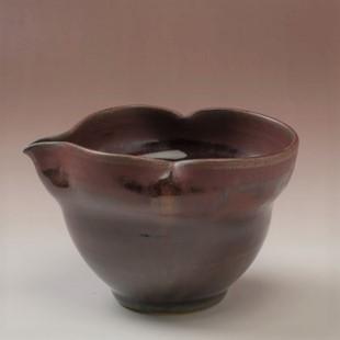 萩焼(伝統的工芸品)酒注大鉄赤釉瓢箪