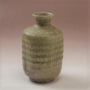 萩焼(伝統的工芸品)徳利緑釉肩衝四方