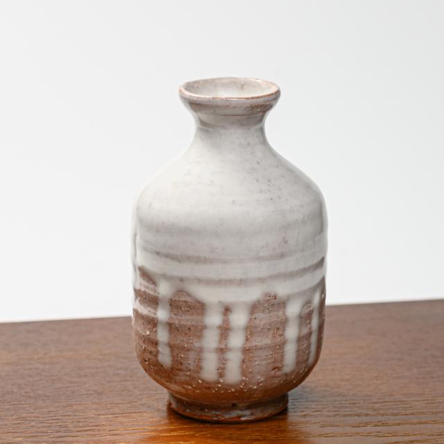 萩焼(伝統的工芸品)徳利白萩掛分け肩衝