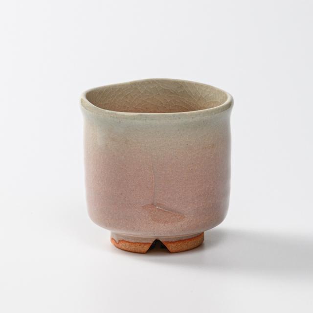 萩焼(伝統的工芸品)小湯呑姫萩筒太ヘラメ