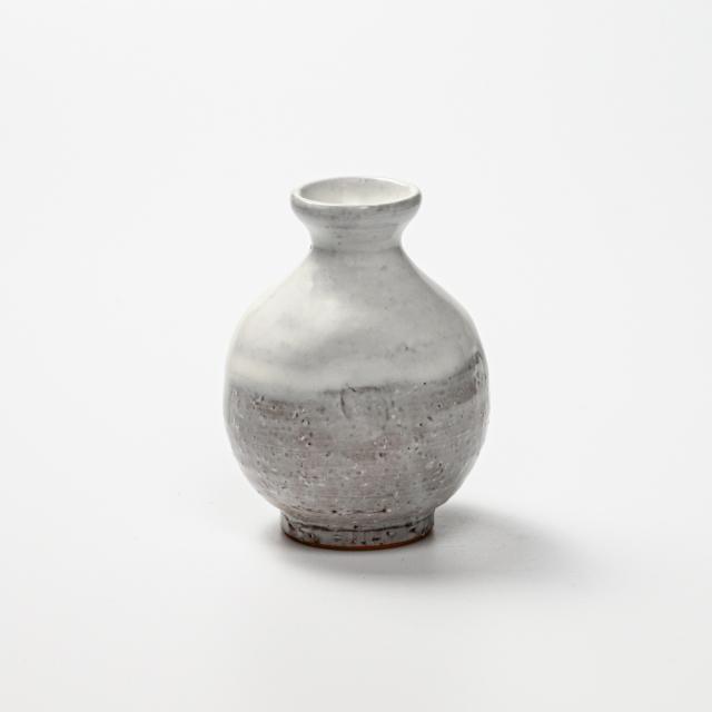 萩焼(伝統的工芸品)徳利小白萩掛分け丸えくぼNo941