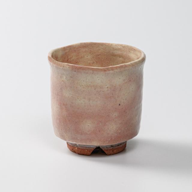 萩焼(伝統的工芸品)小湯呑御本手筒