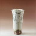 萩焼(伝統的工芸品)花入大鬼白松円錐形三つ葉