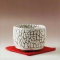 萩焼(伝統的工芸品)抹茶碗鬼白松半筒