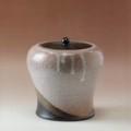 萩焼(伝統的工芸品)水指掛分け(鬼萩&鬼萩)瓶子