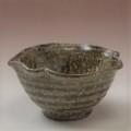 萩焼(伝統的工芸品)小鉢緑釉木の葉