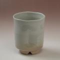 萩焼(伝統的工芸品)大湯呑刷毛姫筒ヘラメ