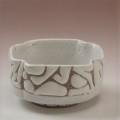 萩焼(伝統的工芸品)小鉢鬼白特四方へこみ