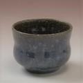 萩焼(伝統的工芸品)そばちょこ鉄青釉胴締
