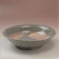 萩焼(伝統的工芸品)平鉢刷毛青荒朝顔