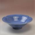 萩焼(伝統的工芸品)平鉢透青釉末広輪花