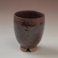 萩焼(伝統的工芸品)湯呑鉄赤釉荒呉器