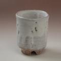 萩焼(伝統的工芸品)大湯呑鬼白荒竹筒ヘラメ