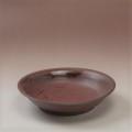 萩焼(伝統的工芸品)サラダボウル鉄赤釉朝顔