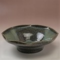 萩焼(伝統的工芸品)鉢鉄青釉八角