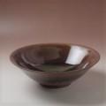 萩焼(伝統的工芸品)深鉢鉄赤釉末広
