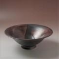 萩焼(伝統的工芸品)深鉢掛分け(鉄赤釉&黒釉)端反