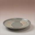 萩焼(伝統的工芸品)銘々皿刷毛青丸