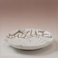 萩焼(伝統的工芸品)銘々皿鬼白松木の葉