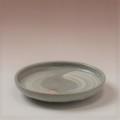 萩焼(伝統的工芸品)小皿刷毛青荒丸