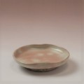 萩焼(伝統的工芸品)小皿御本手豆形二辺