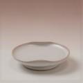 萩焼(伝統的工芸品)小皿白姫豆形二辺