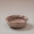 萩焼(伝統的工芸品)豆皿御本手輪花
