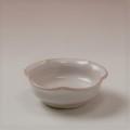 萩焼(伝統的工芸品)豆皿白姫輪花