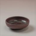 萩焼(伝統的工芸品)豆皿鉄赤釉丸