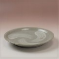萩焼(伝統的工芸品)平皿中刷毛青丸