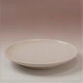 萩焼(伝統的工芸品)平皿中白姫丸