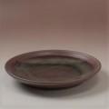 萩焼(伝統的工芸品)平皿中鉄赤釉丸