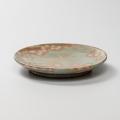 萩焼(伝統的工芸品)平皿小御本手丸