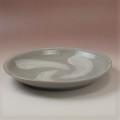 萩焼(伝統的工芸品)大皿刷毛青丸