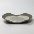 萩焼(伝統的工芸品)大皿刷毛青切落し
