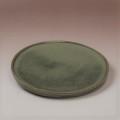 萩焼(伝統的工芸品)タタラ平皿鉄青釉丸