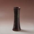 萩焼(伝統的工芸品)花入細手鉄赤釉端反