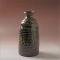 萩焼(伝統的工芸品)花入大緑釉徳利形