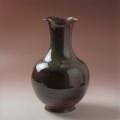 萩焼(伝統的工芸品)花入特大鉄赤釉丸細口輪花