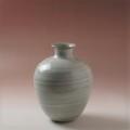 萩焼(伝統的工芸品)花入刷毛青丸中細口