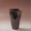 萩焼(伝統的工芸品)花入広口鉄赤釉呉器
