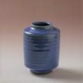 萩焼(伝統的工芸品)ミニ花入透青釉肩衝