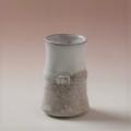 萩焼(伝統的工芸品)ミニ花入小白萩掛分け竹形