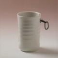 萩焼(伝統的工芸品)掛花入白姫筒ヘラメ