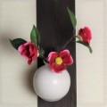 萩焼(伝統的工芸品)掛花入白姫丸えくぼ