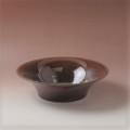 萩焼(伝統的工芸品)水盤小鉄赤釉端反